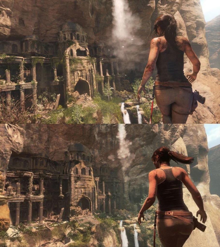 Rise of the Tomb Raider Vergleichsbilder