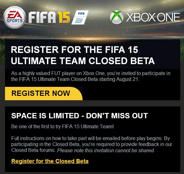 FIFA 15-Beta
