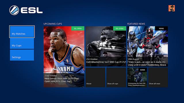 ESL App für Xbox One