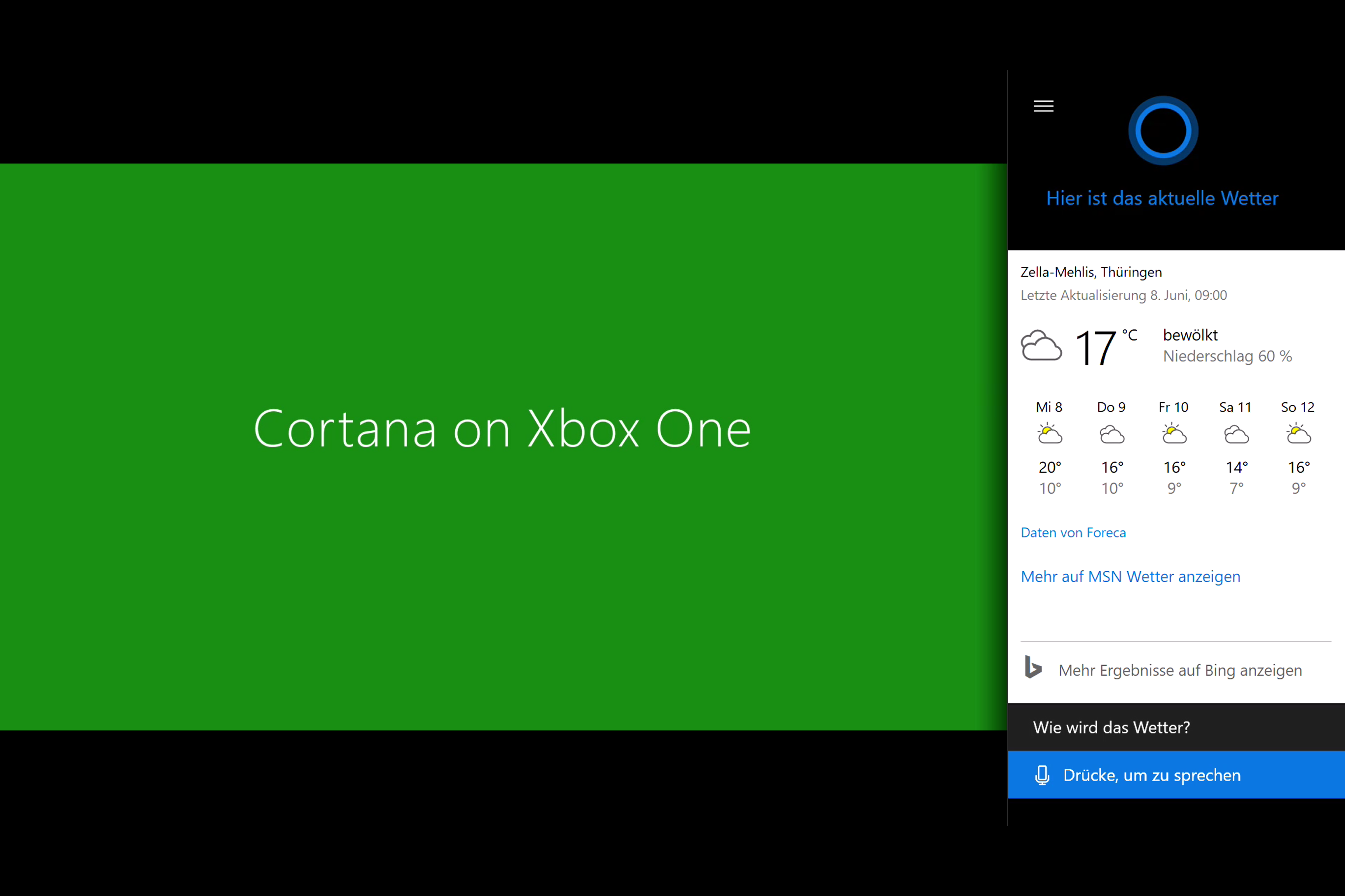 Xbox One Anniversary Update mit Cortana