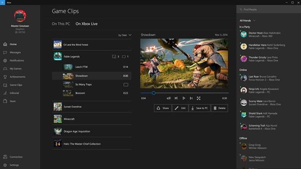 Xbox App auf PC