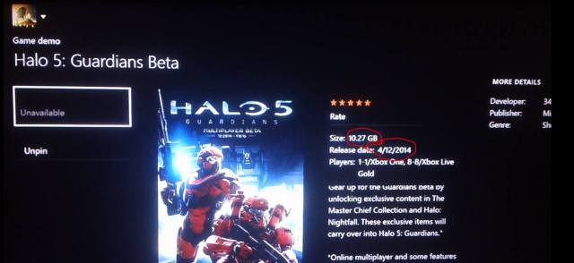 Halo 5: Guardians - Die Downloadgröße