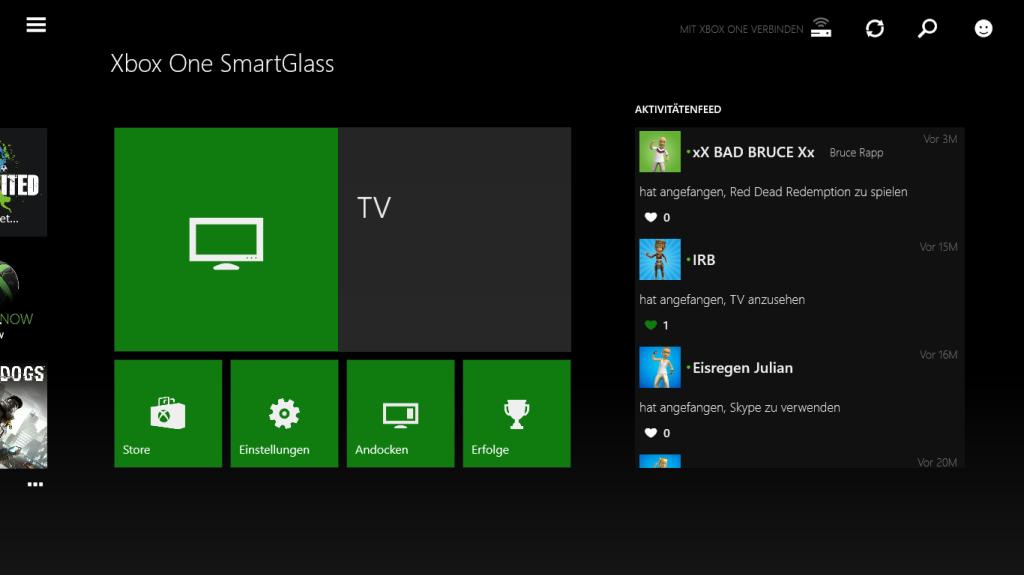 In der neusten SmartGlass-Version ist es euch jetzt möglich, den Activity Feed zu liken