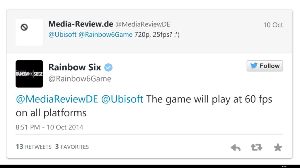 Tweet von Ubisoft