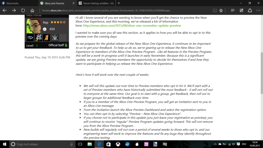 Xbox One Preview Forum