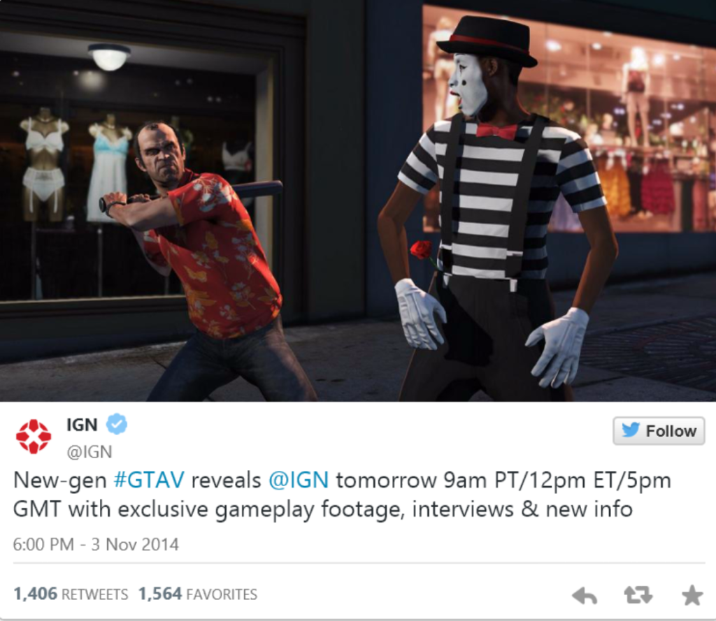 Tweet von IGN