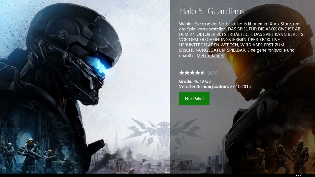 Halo 5: Guardians Downloadgröße