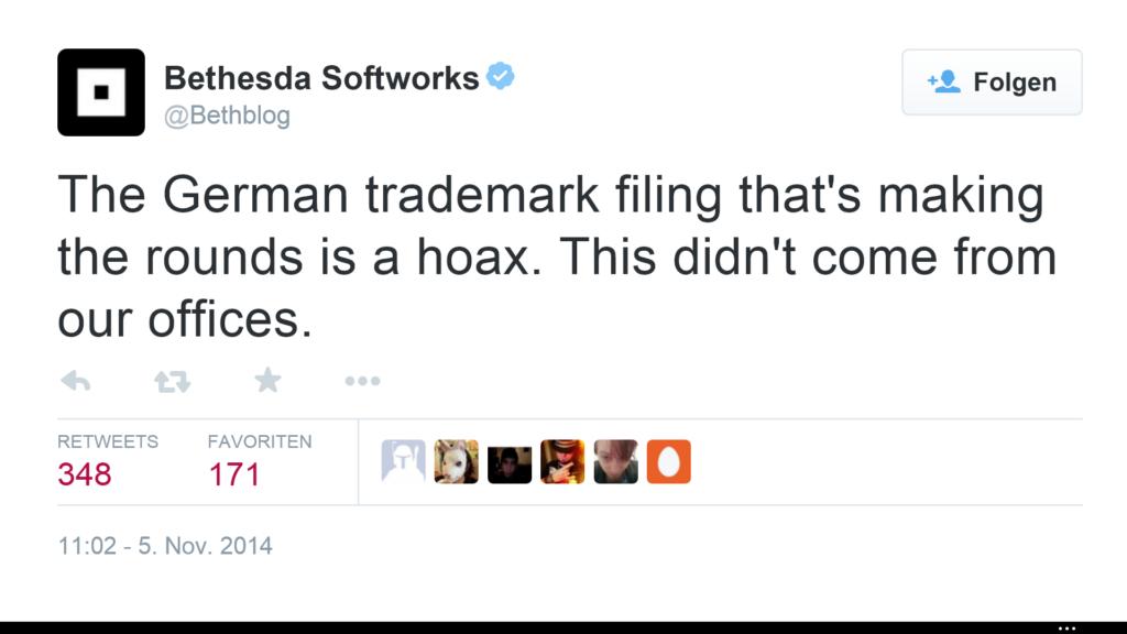 Tweet von Bethesda