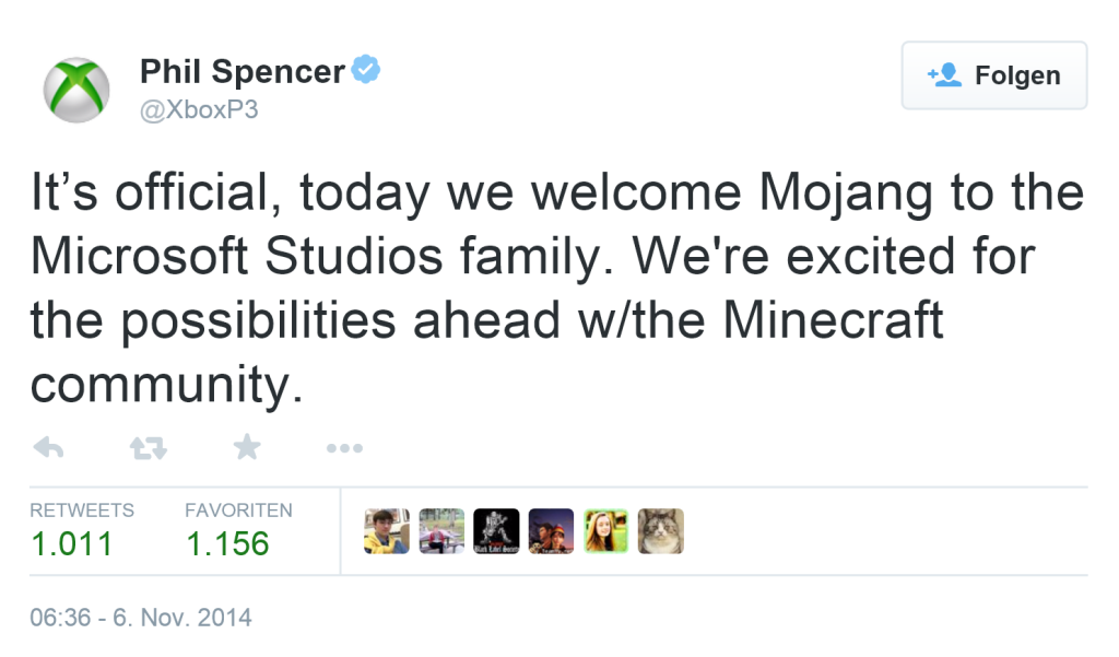 Tweet von Phil Spencer