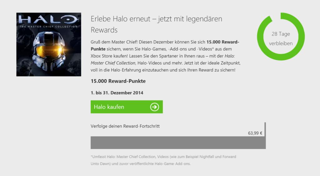 Xbox Live Reward Halo-Prämie 2014