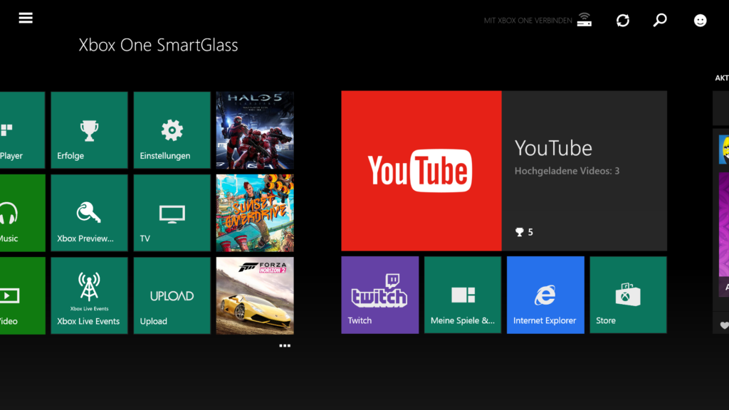 Xbox One SmartGlass App für Windows 8.1