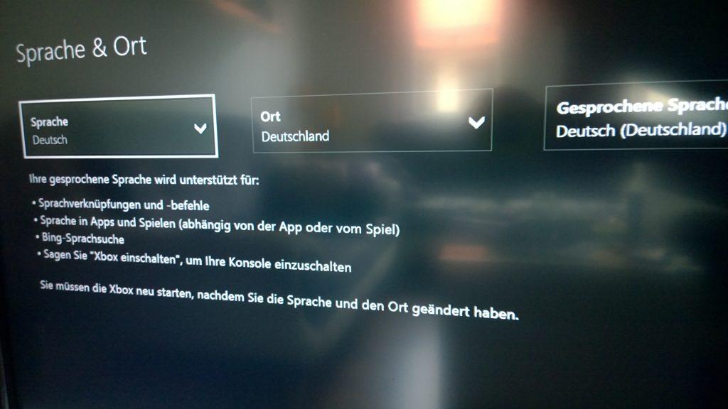 Neue Spracheinstellungen für Kinect