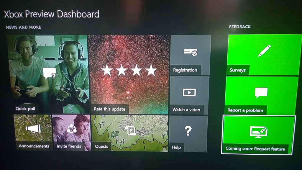 Die neue Xbox Preview Dashboard App