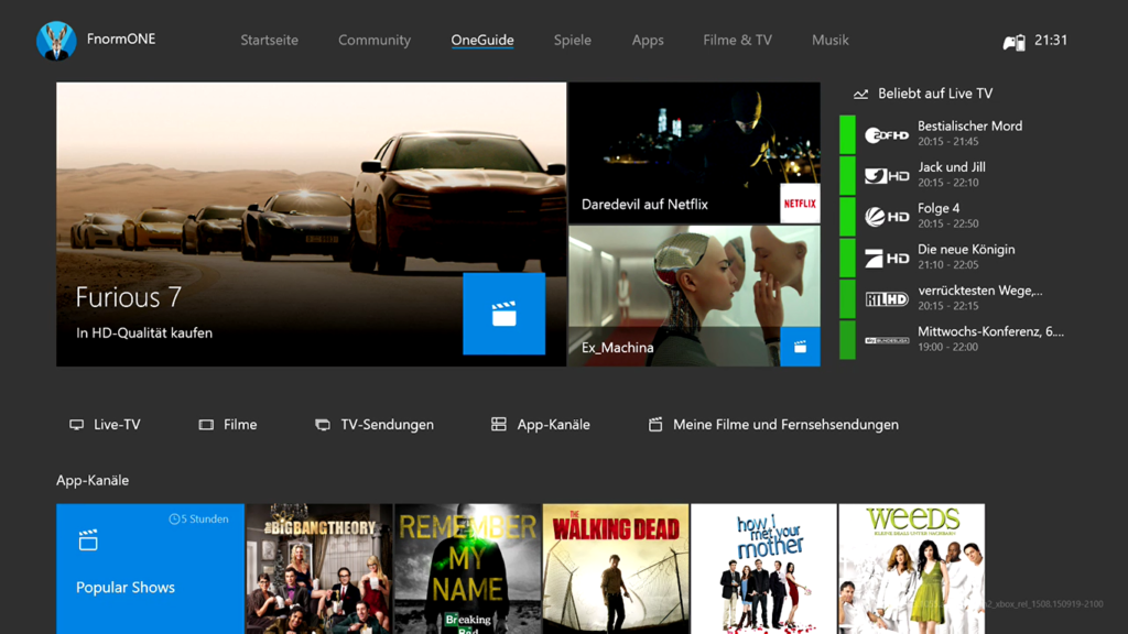 New Xbox One Experience - Dashboard