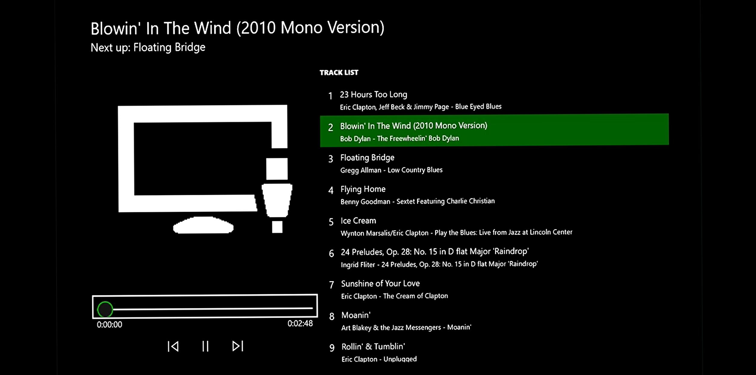 Xbox One Hintergrundmusik Player für USB-Geräte