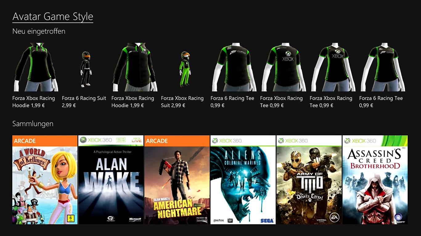 Xbox One Avatar Store
