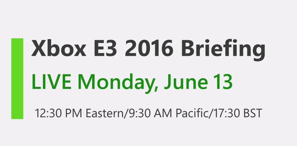 media briefing microsoft e3 2016