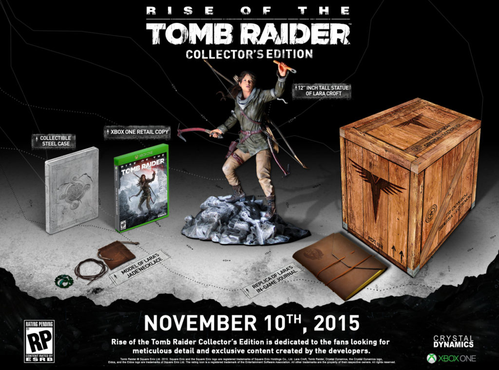 Rise of the Tomb Raider Collectors Edition Inhalte