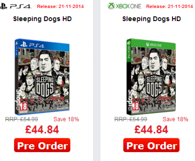 Sleeping Dogs HD-Edition