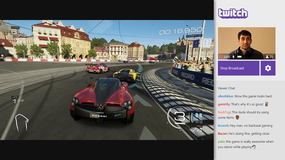 Twitch App für Xbox One