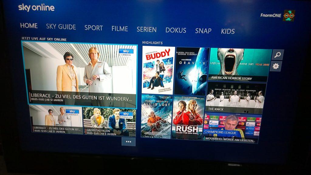 Sky Online für Xbox One