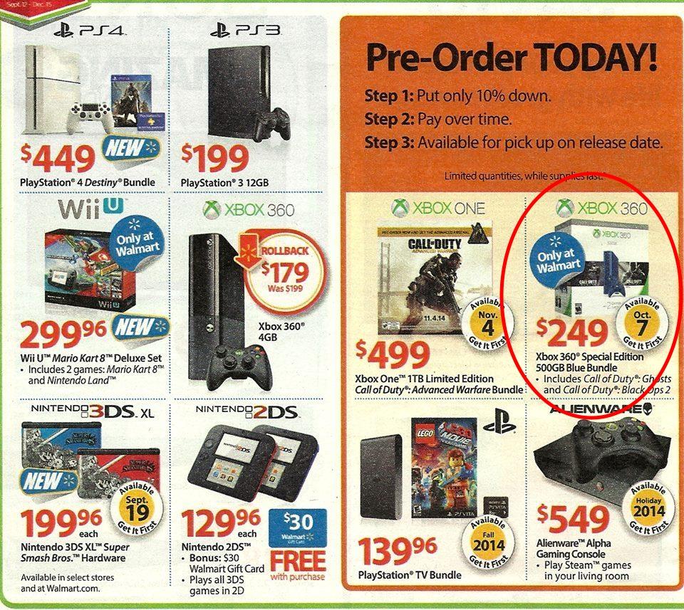 Walmart mit einem Xbox 360-Special Bundle